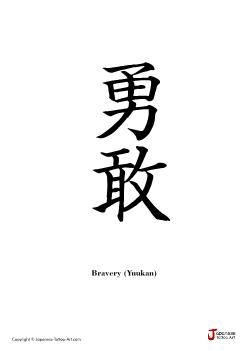 "Japanese word for ""Bravery"" 