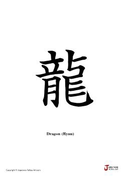 Japanese word for Dragon