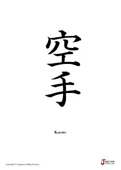 Japanese word for Karate