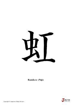 Japanese word for Rainbow