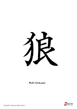 "Japanese word for ""Wolf"" 